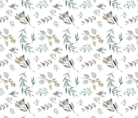 Eucalyptus Leaves Edition 2 || Australian Natives Trees fabric by erin__kendal on Spoonflower - custom fabric