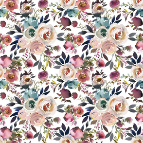 Wynter Floral Dusty Turquoise