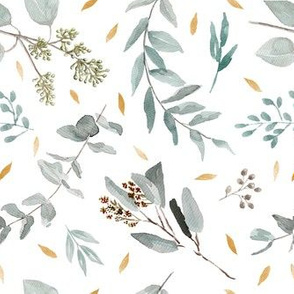 Eucalyptus Leaves + Gold Flecks || Australian Native Leaves + Foliage