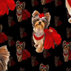 "Yorkie Loves Red  4 1/2"" size"