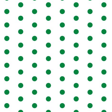 Green Dots Polka Dots fabric by betz on Spoonflower - custom fabric