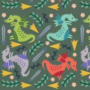 Dragons - Green