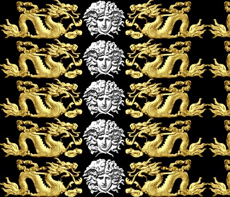 Spoonflower_white_medusa_horizontal_gold_dragon_dither_shop_preview
