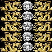 Spoonflower_white_medusa_horizontal_gold_dragon_dither_shop_thumb