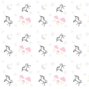 Magical Unicorns 7- pink gray