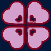 Light Orchid Shamrock Hearts