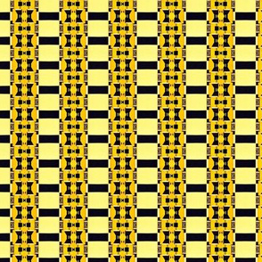 Art Deco Inlay in Yellow and Black