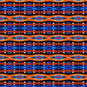 Modern Indigenous Orange and Blue