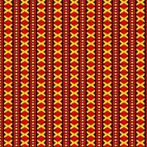 Red Diamonds or Yellow Xes