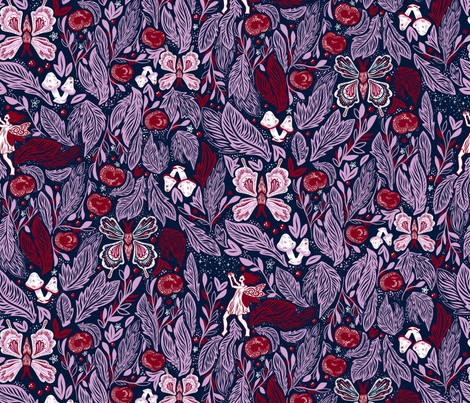 Lush Fairy Forest fabric by roguerens on Spoonflower - custom fabric