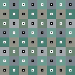 Green Grey SMSquares with Dots