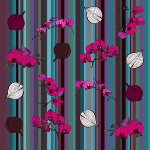 Orchids and onions - stripe
