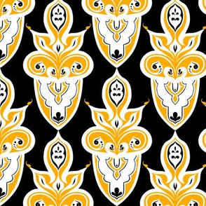 High Contrast Yelow Damask 4