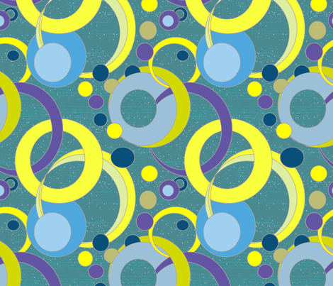 art deco bubbles fabric by palusalu on Spoonflower - custom fabric