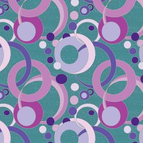 Amethyst Plum Violet Art Deco Bubbles