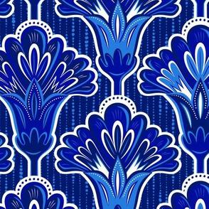 Folk Floral - Blue Large