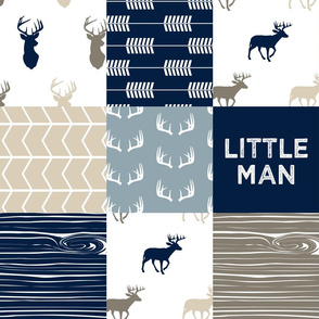 Little Man - Rustic Woods Collection - Woodland Patchwork Fabric C18BS