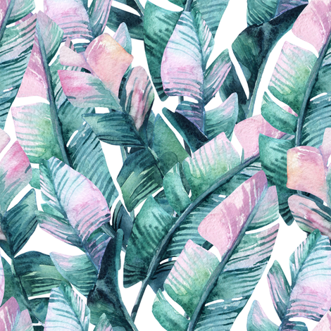 "8"" Tropical Banana Leaves fabric by hipkiddesigns on Spoonflower - custom fabric"