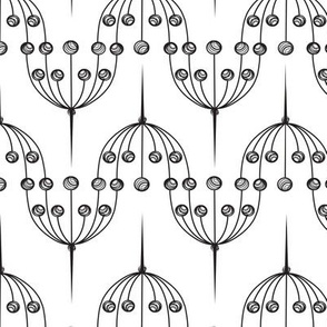 Abstract umbel pattern