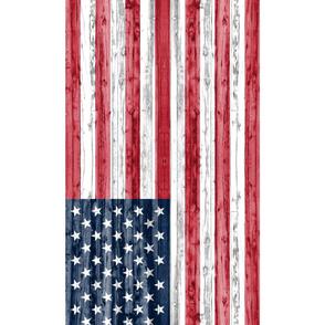 1/2 yard Minky - American Flag