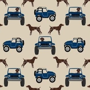 small - german shorthaired pointer, dog, dogs, navy, adventure, car, dog, dogs