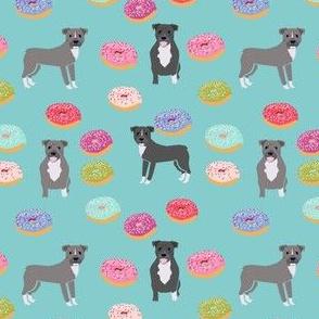 pitbull donuts grey coat blue dog breed fabric