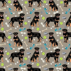 rottweiler (smaller) dog fabric - dogs and toys - brown