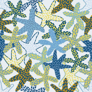 Starfishes Galore (icy blue)