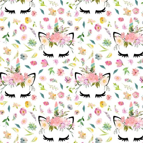 "2.25"" spring unicorns  fabric by lil'faye on Spoonflower - custom fabric"