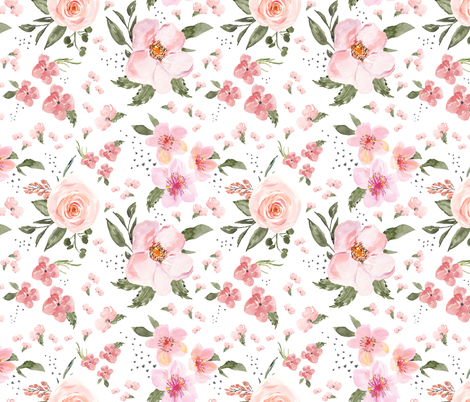 peach delicate dots fabric by lil'faye on Spoonflower - custom fabric