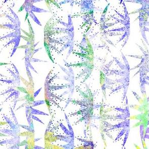 Cactus Stars Batik White Purple 150