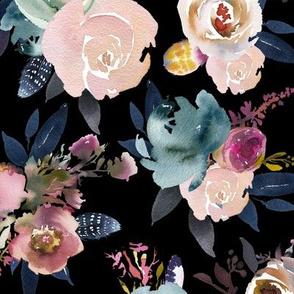 indigo floral black