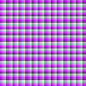 Purple poppy plaid