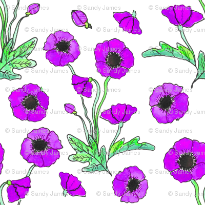 purple poppy repeat 6x6