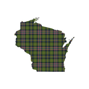 "Wisconsin silhouette - 18"" silhouette with 3"" warmer tartan"
