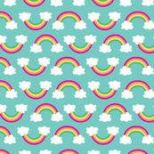aloha rainbow on teal