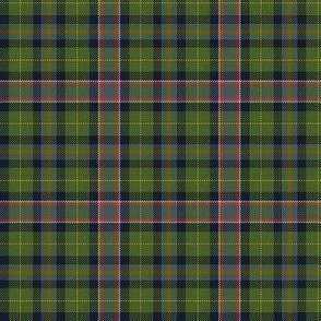 "Wisconsin official state tartan, 3"", warmer hues"