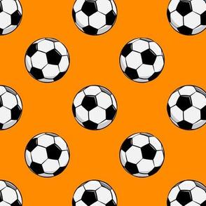 soccer balls - orange