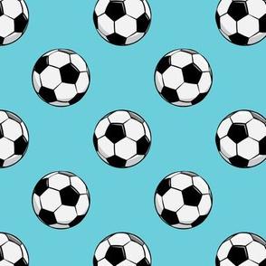 soccer balls - blue