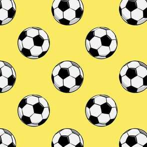 soccer balls - yellow