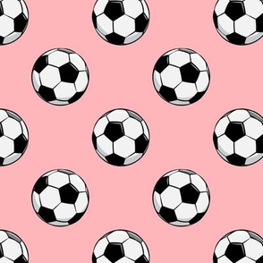 soccer balls - pink