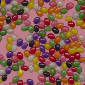 Jellybean Sweets on Pink