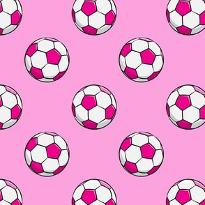 soccer balls - dark pink