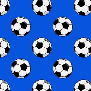 soccer balls - bright blue