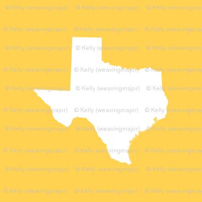 """Texas silhouette - 18"""" white on gold"""