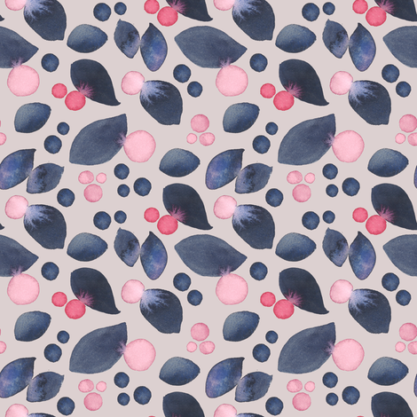 Pink Berries fabric by gardenofedin on Spoonflower - custom fabric