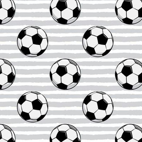 soccer balls - grey stripes