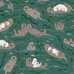 Sea otters - Camouflage - medium scale