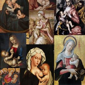 Virgin de la Leche Collage