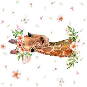 "7"" Floral Giraffe / 90 degrees"